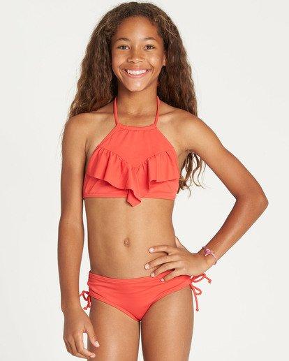 0 Girls' Sol Searcher High Neck Bikini Set Red Y202TBSO Billabong