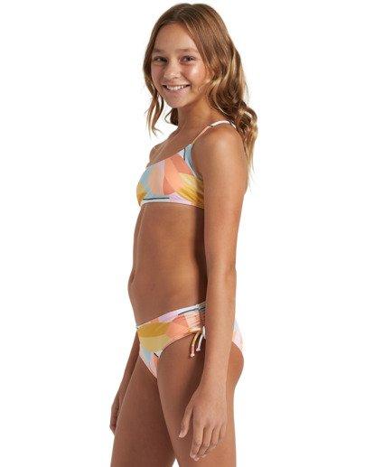 2 Girls' Warm Days Mini Crop Bikini Set Grey Y2033BWA Billabong