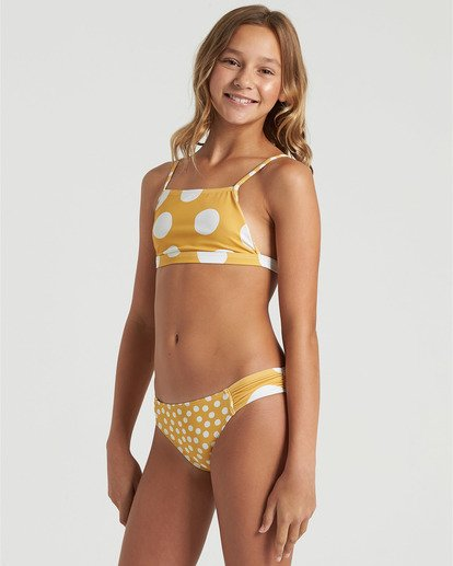 2 Girls' 4Ever Sun Tank Bikini Set Grey Y2053B4E Billabong