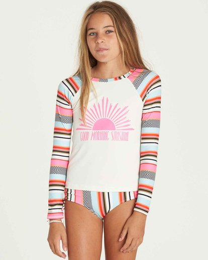 0 Girls' Like That Rashguard Set Black Y205PBLI Billabong
