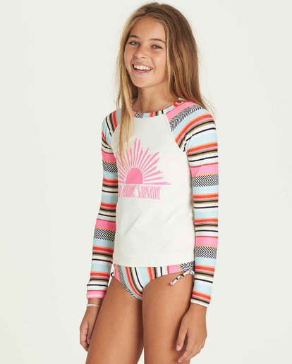 1 Girls' Like That Rashguard Set Black Y205PBLI Billabong