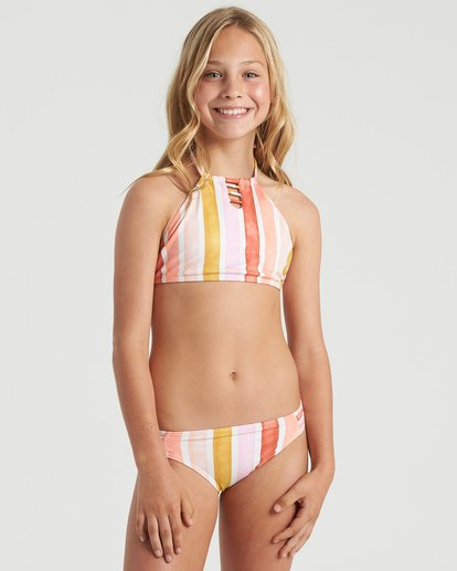 3 Girls' So Stoked High Neck Bikini Set Grey Y2063BSO Billabong
