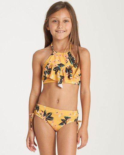 0 Girls' Sunset Luv High Neck Swim Set Grey Y206WBSU Billabong