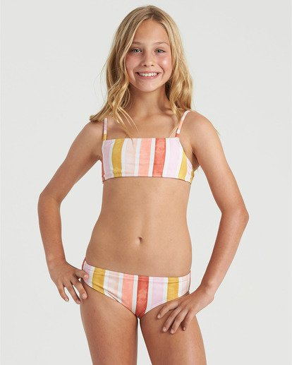 0 Girls' So Stoked Bralette Bikini Set Grey Y2073BSO Billabong