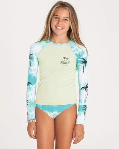 0 Girls' Peace 4 You Rashguard Set  Y208PBPE Billabong
