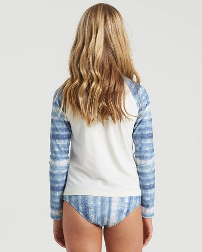 1 Girls' In A Wave Rashguard Swim Set Blue Y2103BIN Billabong