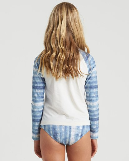 5 Girls' In A Wave Rashguard Swim Set Blue Y2103BIN Billabong