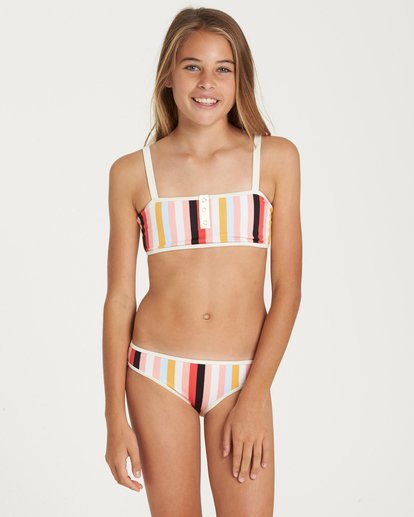 0 Girls' Come On By Tank Swim Set Black Y212QBCO Billabong