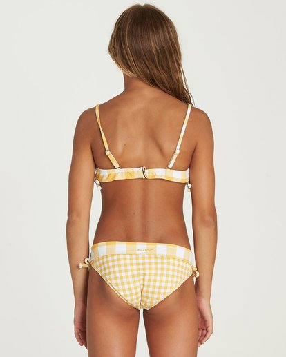 2 Girls' So Golden Band Tank Bikini Set Yellow Y212UBSO Billabong