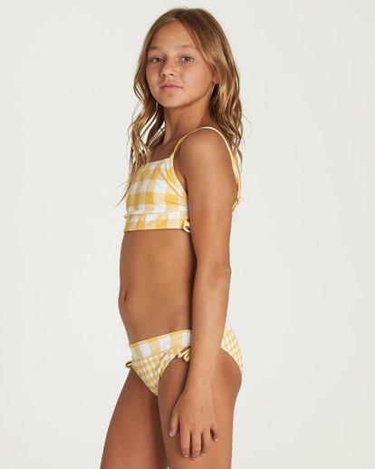 1 Girls' So Golden Band Tank Bikini Set Yellow Y212UBSO Billabong