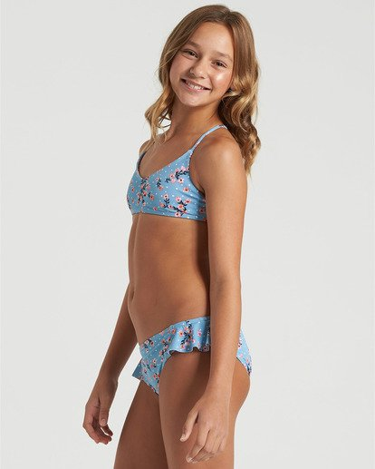 2 Girls' Sweet Tide Trilet Bikini Set Blue Y2163BSW Billabong