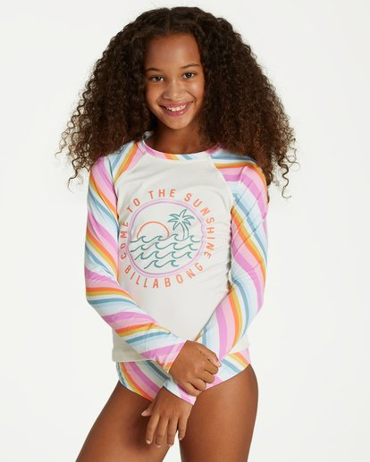 0 Girls' Magic Hour Rashguard Swim Set Grey Y216VBMA Billabong