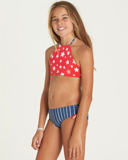 1 Girls' Seein' Stars High Neck Swim Set  Y217PBSE Billabong