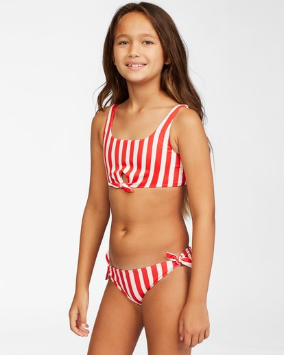 2 Girls' Free Babe Knotted Tank Red Y2222BFR Billabong