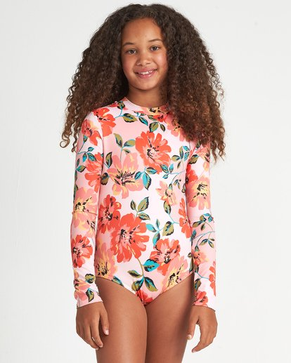 0 Girls' Beach Bliss Bodysuit Grey YR011BBE Billabong
