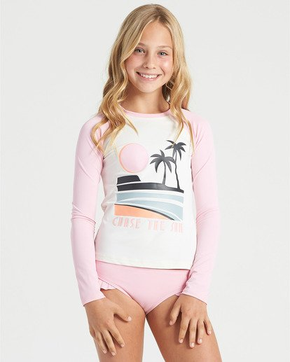 3 Girls' Warm Days Long Sleeve Rashguard White YR013BWA Billabong