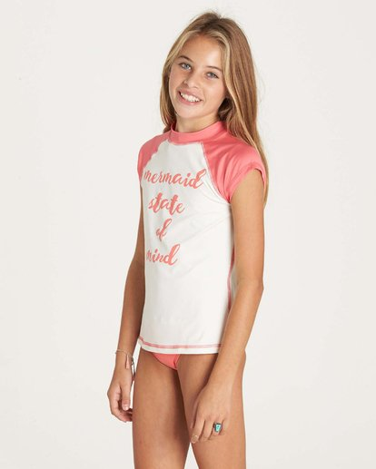 1 Girls' Sol Seacher Short Sleeve Rashguard  YR01LSOL Billabong