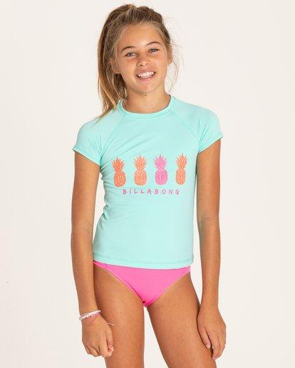 0 Girls' Sol Searcher Short Sleeve Rashguard  YR01PBSO Billabong