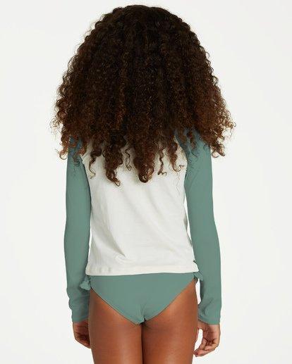 1 Girls' Sol Searcher Long Sleeve Rashguard White YR01VBSO Billabong