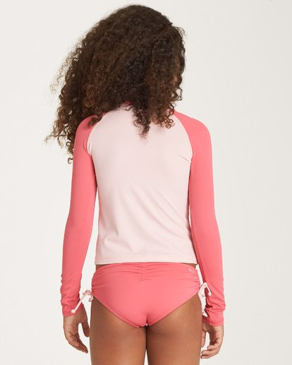 2 Girls' Sol Searcher Rashguard Grey YR01WBSO Billabong