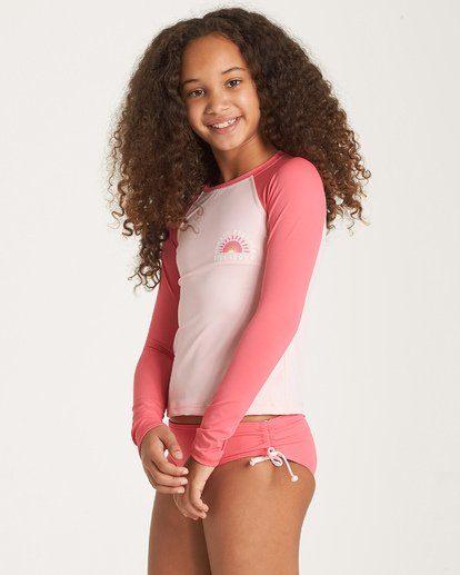 1 Girls' Sol Searcher Rashguard Grey YR01WBSO Billabong