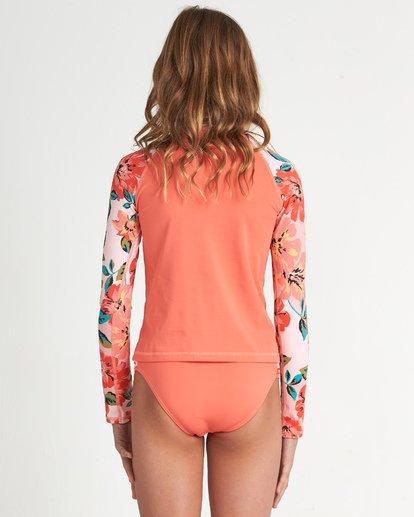 1 Girls' Beach Bliss Long Sleeve Rashguard Grey YR021BBE Billabong