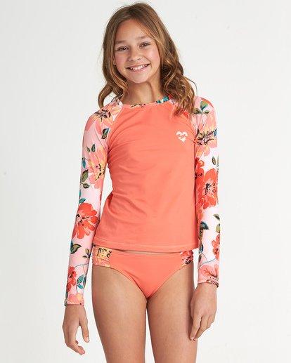 0 Girls' Beach Bliss Long Sleeve Rashguard Grey YR021BBE Billabong