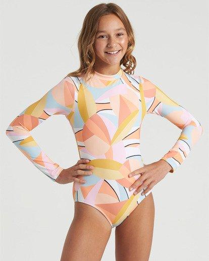 3 Girls' Warm Days Bodysuit Swim Grey YR023BWA Billabong