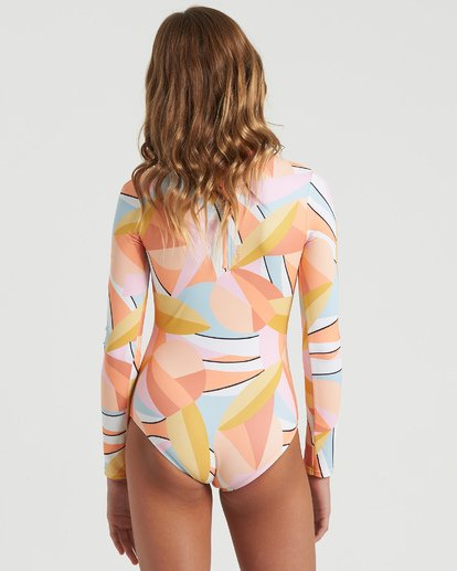 2 Girls' Warm Days Bodysuit Swim Grey YR023BWA Billabong