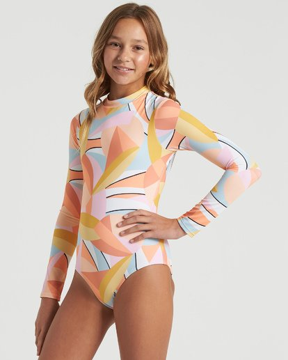 1 Girls' Warm Days Bodysuit Swim Grey YR023BWA Billabong