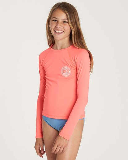 1 Girls' Sol Searcher Long Sleeve Rashguard  YR02NBSO Billabong