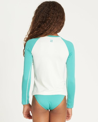 2 Girls' Sol Searcher Long Sleeve Rashguard Green YR02TBSO Billabong