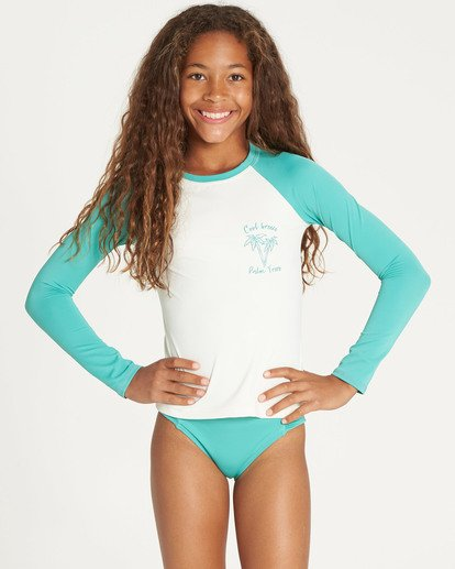 0 Girls' Sol Searcher Long Sleeve Rashguard Multicolor YR02TBSO Billabong