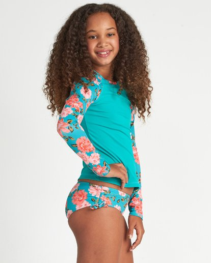 1 Girls' Sunny Shore Long Sleeve Rashguard  YR031BSU Billabong