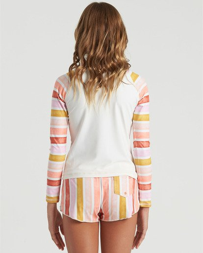 4 Girls' So Stoked Long Sleeve Rashguard White YR033BSO Billabong