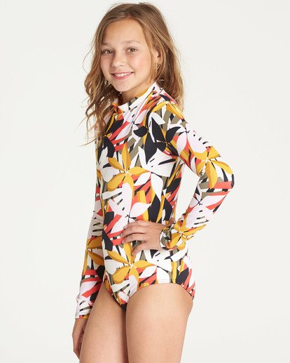 1 Girls' Eastern Sun Bodysuit Rashguard Black YR03TBEA Billabong