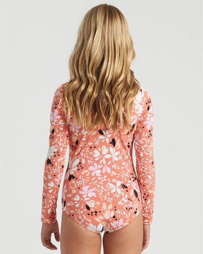 4 Girls' Petal Party Bodysuit Swim Multicolor YR043BPE Billabong