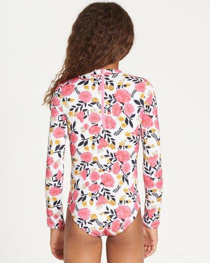 1 Girls' Sun Dream Bodysuit Rashguard Grey YR05TBSU Billabong