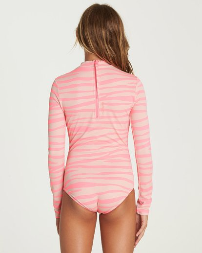 2 Wild Dream Bodysuit Rashguard Pink YR05UBWI Billabong