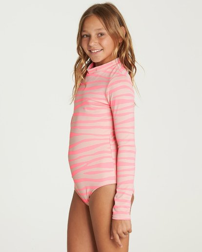 1 Girls' Wild Dream Bodysuit Rashguard Pink YR05UBWI Billabong