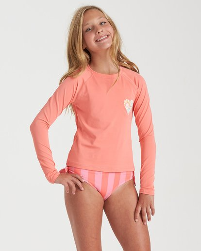 1 Girls' Into You Long Sleeve Rashguard Grey YR082BIN Billabong