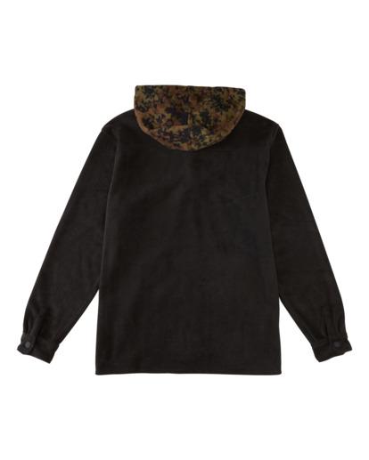 1 Furnace Anorak - Water Repellent Hooded Furnace Fleece for Men Black Z1FL46BIF1 Billabong