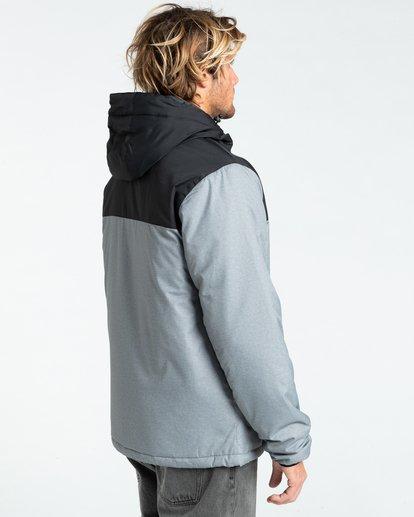 3 Bus Stop - Puffer Jacket for Men Grey Z1JK38BIF1 Billabong