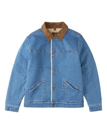 5 Wrangler Range Sherpa - Trucker-Jacke für Männer Blau Z1JK51BIF1 Billabong