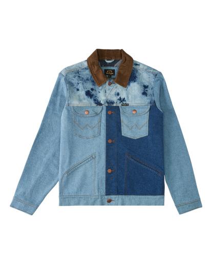 5 Wrangler Team Ranch Mixup - Denim Jacket for Men Blue Z1JK52BIF1 Billabong