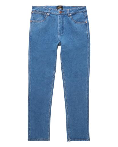 4 Wrangler 73 Hemp - Pantalones Vaqueros Rectos para Hombre Azul Z1PN11BIF1 Billabong
