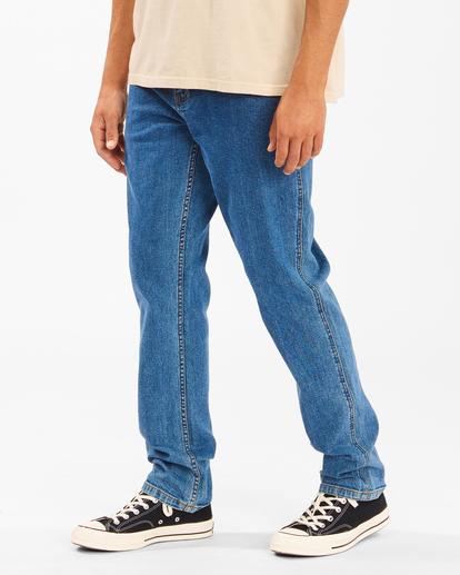 1 Wrangler 73 Hemp - Pantalones Vaqueros Rectos para Hombre Azul Z1PN11BIF1 Billabong