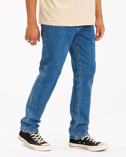 2 Wrangler 73 Hemp - Pantalones Vaqueros Rectos para Hombre Azul Z1PN11BIF1 Billabong