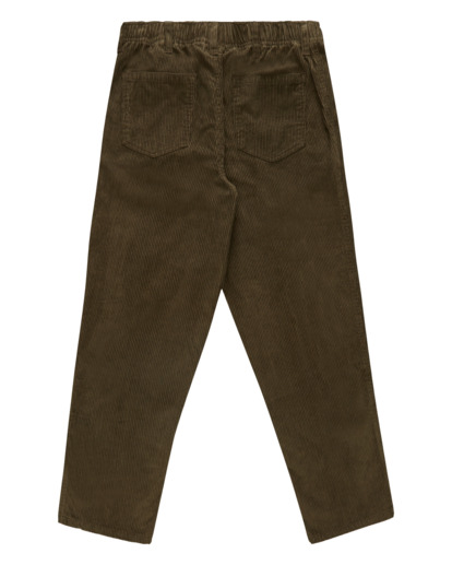 6 Wrangler Bowie Layback - Corduroy Trousers for Men Brown Z1PT20BIF1 Billabong