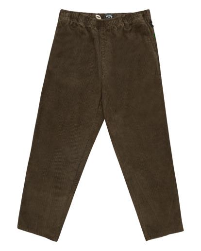 5 Wrangler Bowie Layback - Corduroy Trousers for Men Brown Z1PT20BIF1 Billabong